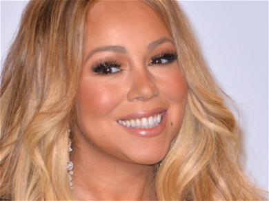 Mariah Carey Cleans Her Mirrors In Pink Bathrobe