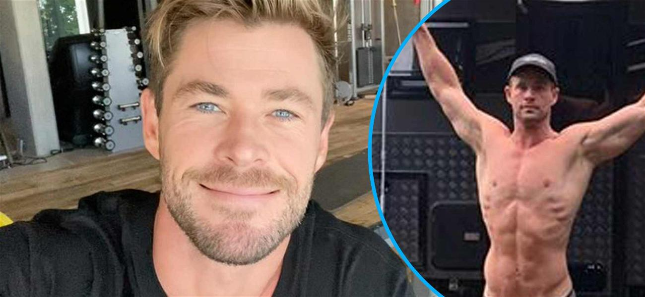 Chris Hemsworth Shows Off Totally Ripped Dad Bod On Family Camping Trip