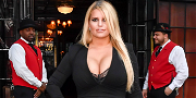 Jessica Simpson Wows Instagram With 100-Pound Weight Loss In Snakeskin Dress