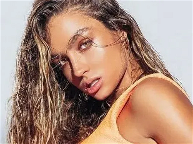 Sommer Ray Flaunts Perfect 'Boobage' While Straddling Weight Bench In Gym