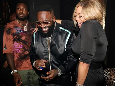 Wendy Williams Parties With Rick Ross & Meek Mill While Living Her Best Life