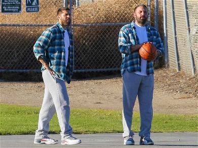 Ben Affleck Has a One-On-One With Himself During Basketball Game with Stunt Double