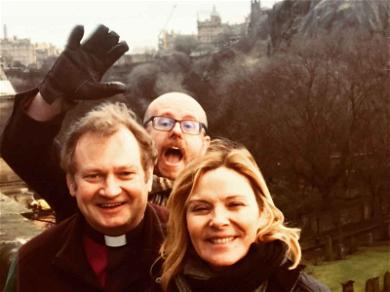 Kim Cattrall Remembers Her Brother During Church Service in Scotland