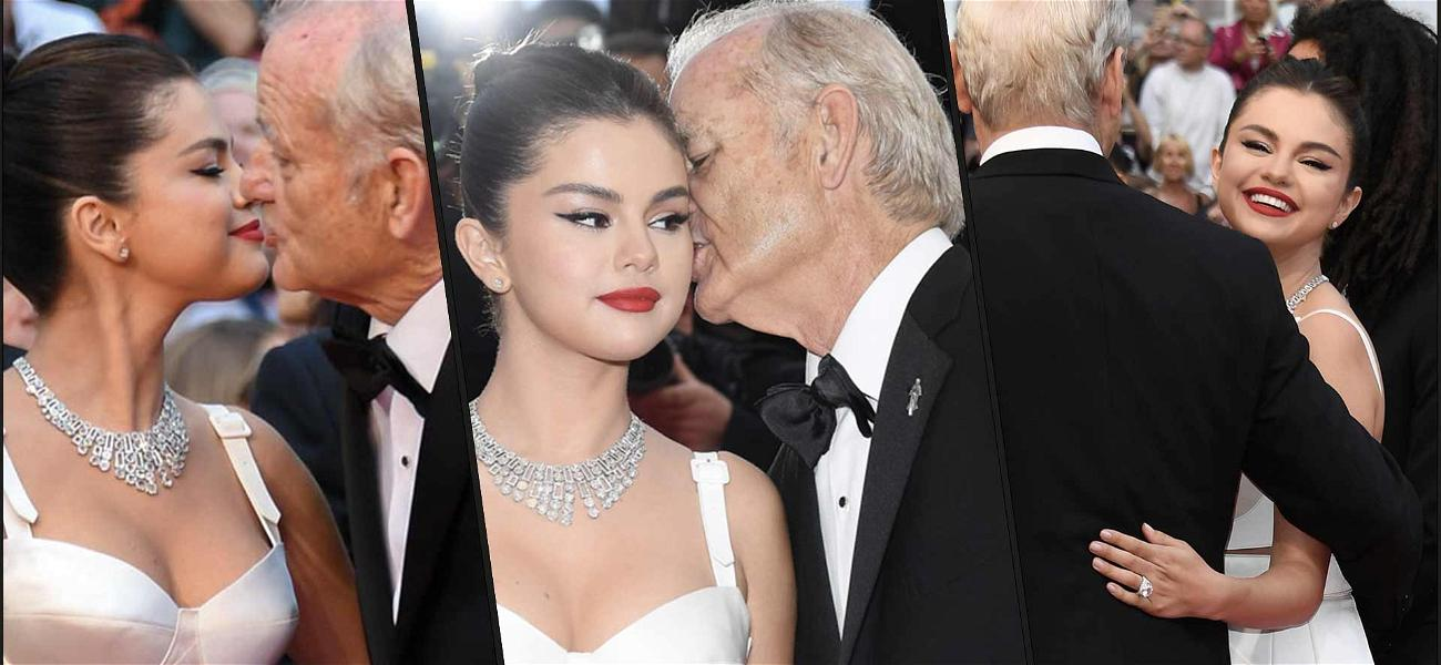 Bill Murray Smooched Selena Gomez Right In the Cannes
