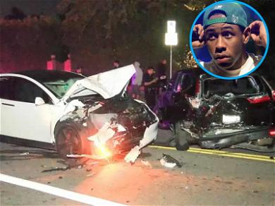 Tyler the Creator Smashed His Tesla Into a Parked Car, Victim Is Excited About Getting Paid