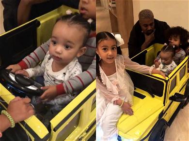 Chicago West Matches Mommy Kim Kardashian With New Neon G-Wagon for 1st Birthday