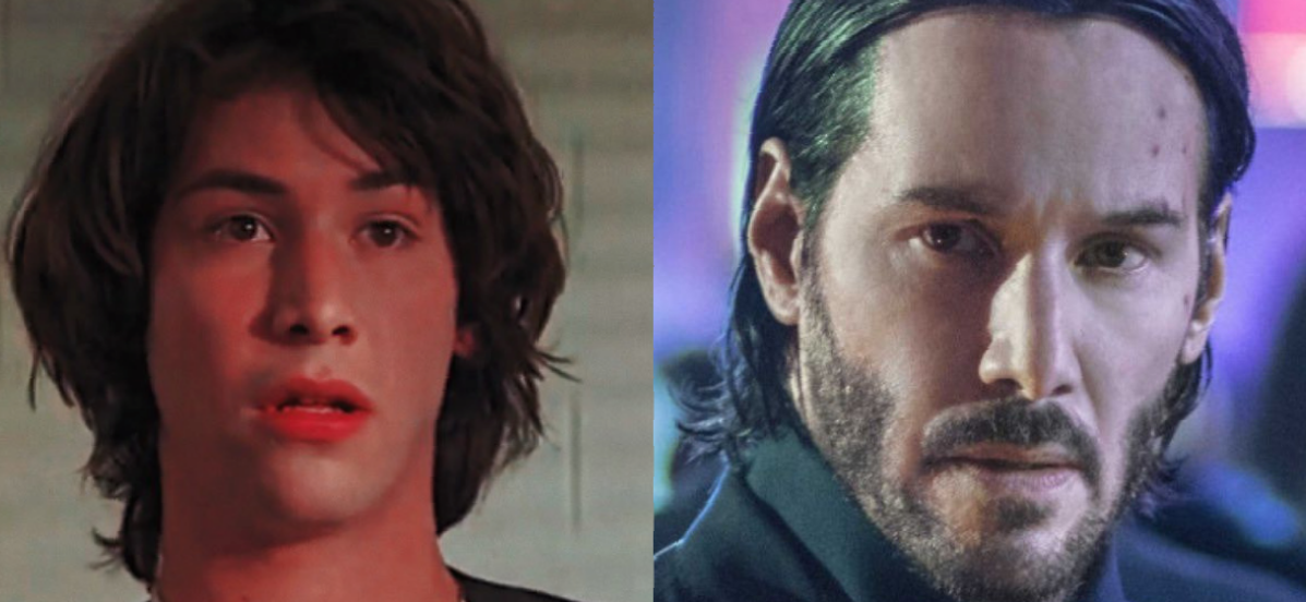 Keanu Reeves Sports A Fresh-Faced Look While Filming 'Bill & Ted'