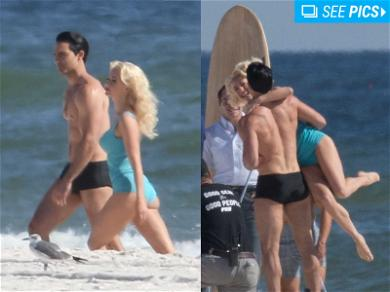 Julianne Hough and Tyler Hoechlin Totally Flip Out on the Beach