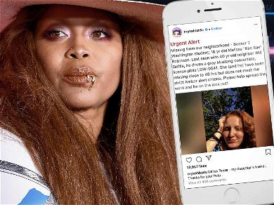 Erykah Badu Pleads With Fans For Help Finding Daughter's Missing Friend
