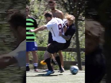 Justin Bieber Gets Knocked on His Ass During Weekend Soccer Match
