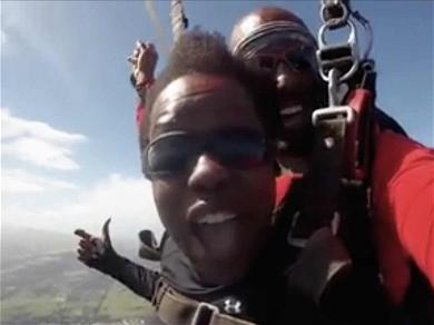 Viola Davis Jumped Out of a Plane in Hawaii & Her Reaction is Hilarious
