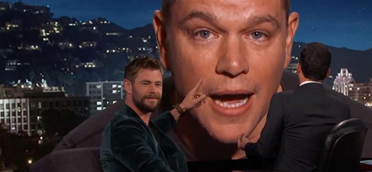 Matt Damon Crashes 'Kimmel' But Avoids Harvey Weinstein Questions