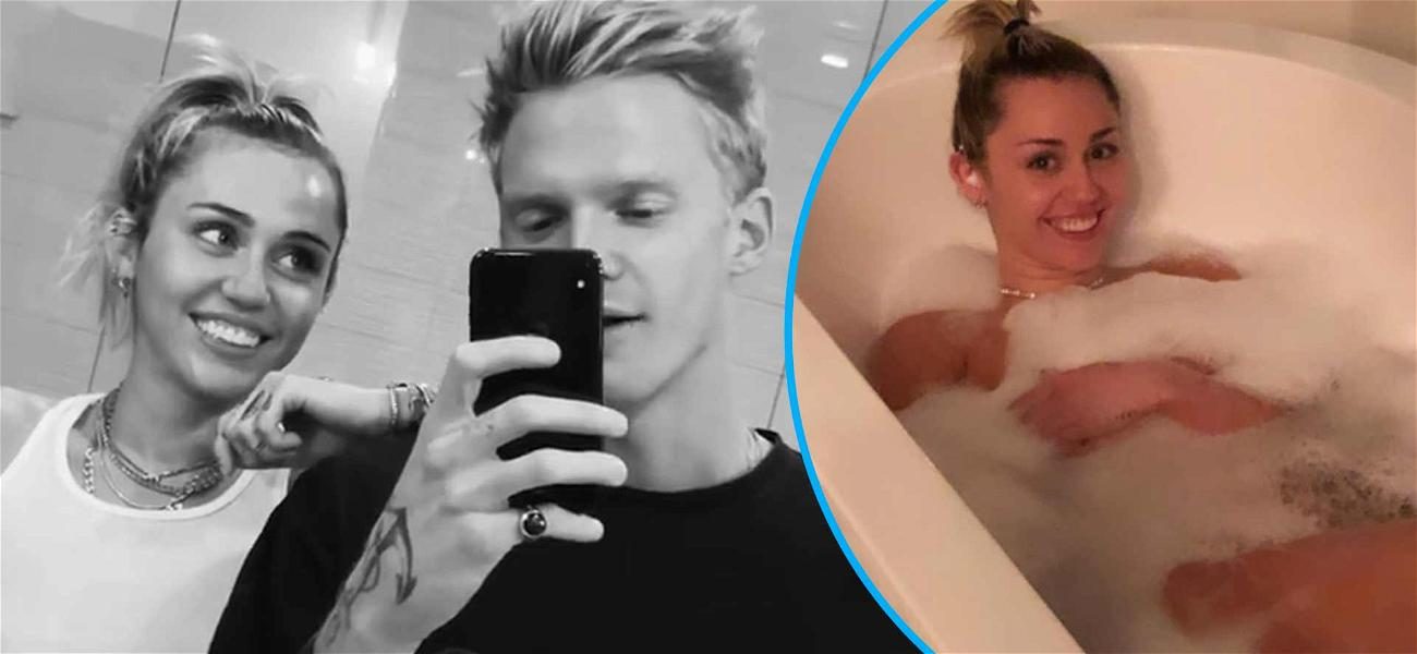 Bubble Trouble! Miley Cyrus Uses Suds To Cover Up In Steamy Bathtub Pic