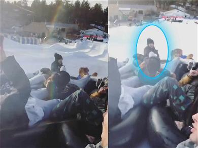 Selena Gomez Seen Leading Her Friends Down Tubing Track in Snow Day Video