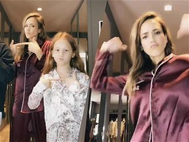 Jessica Alba's TikTok Game Is STRONG While On Self-Quarantine, Daughters Acting As Creative Directors