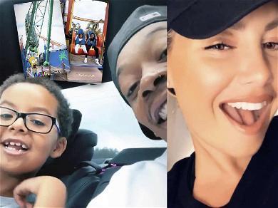 Amber Rose & Wiz Khalfia Co-Parent Like a Boss During Amusement Park Trip with Son Sebastian