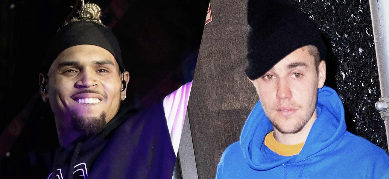 Chris Brown Thanks Justin Bieber for Support While Singer Gets Torched By Fans