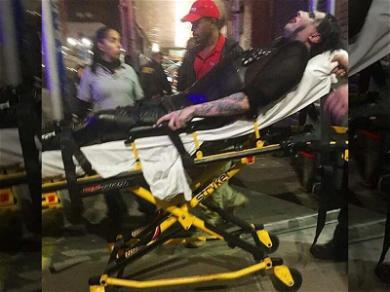 Marilyn Manson Clutches Onto Stretcher After Being 'Gunned Down,' Tour Postponed