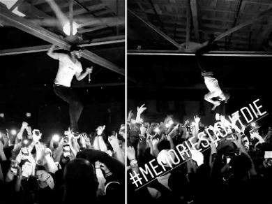 Tory Lanez Walks on Top of His Fans in Epic Vertical Crowd Surf