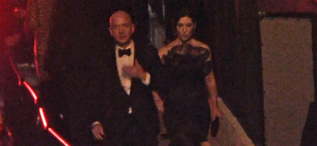 Jeff Bezos Hits the Town with Mystery Woman for Oscars After-Parties