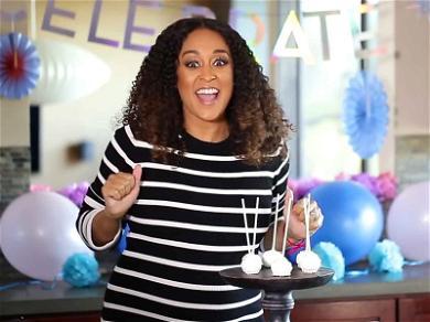 Tia Mowry Reveals Baby #2 Gender With Cake Pop Surprise