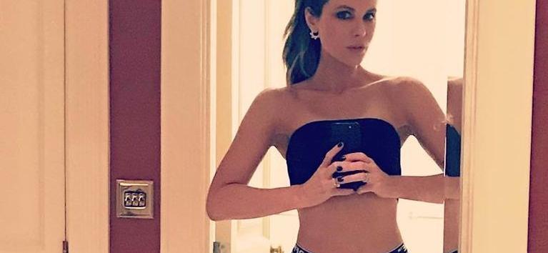 Kate Beckinsale Addresses Anus With Flexible Bedroom Splits