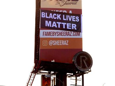 Hollywood 'Black Lives Matter' Billboard REMOVED After Lindsay Lohan Tweets Location