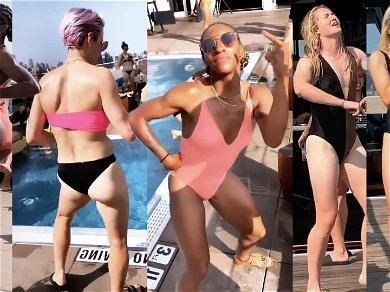 USA Women's Soccer Team Have a Bikini Pool Dance Party Ahead of Parade