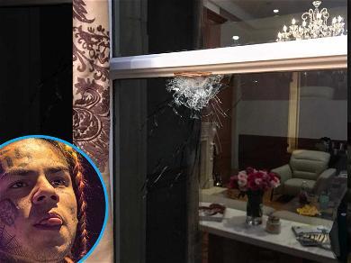 Bullet Hole Seen in Window at Tekashi 6ix9ine and Kanye West Music Video Shooting Scene