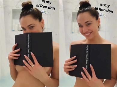 Alexis Ren is Stacked! Shows Off Shower Reading Material