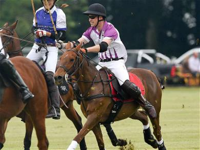 Prince William Works His Royal Stick During Charity Polo Match