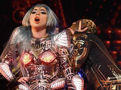 Lady Gaga Nearly Takes a Tumble Off Giant Prop During Vegas Concert