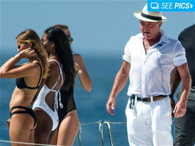 Michael Flatley Is Lord of the Cans on Bikini Babe Filled Yacht