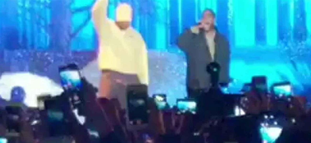 Kanye West Returns to the Stage, Performs with Kid Cudi!