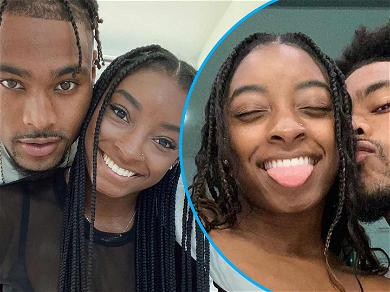 Simone Biles Admits She's Falling For NFL Beau With Smooching Snap