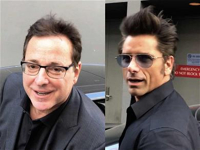 Bob Saget Gets Extremely Uncomfortable Talking About Lori Loughlin, Stamos Keeps His Cool