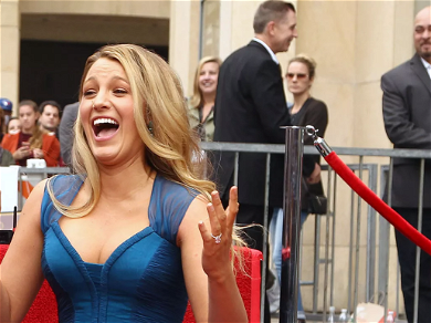 Blake Lively Looks Unrecognizable Stripping Down To Mesh Bra, Sports Bombshell Red Curls