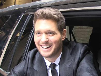 Michael Bublé Spreads Holiday Cheer, Even When Covered In Baby Puke