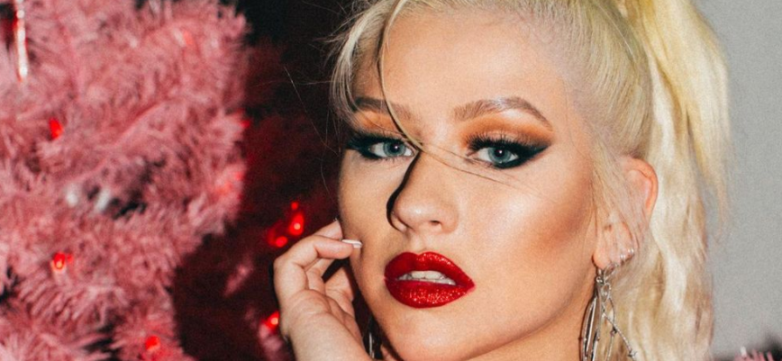 Christina Aguilera Spreads 'Em In Leather On Vintage Muscle Machine