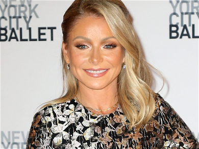 Kelly Ripa Shimmies In Tight Red Pants At Holiday Party Without Ryan Seacrest