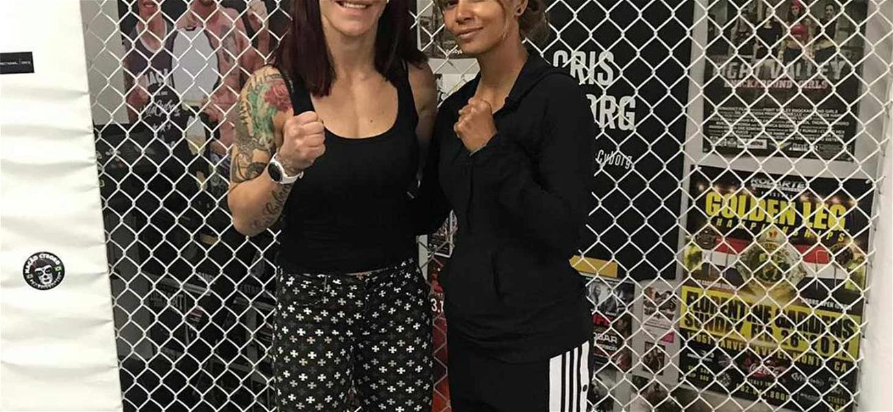 Halle Berry Gets 'Bruised' With UFC Star Cris Cyborg for Directorial Debut