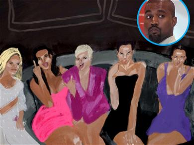 Kanye West's Art for 'XTCY' Features Kardashian Sister-In-Laws He Wants to 'Smash'