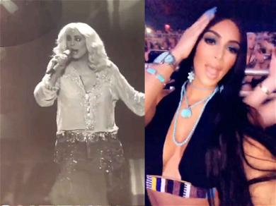 Kim Kardashian Ditches Kanye in Jackson Hole for Cher in Las Vegas