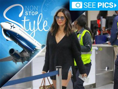 Olivia Munn's  Boots Were Made for Flyin'
