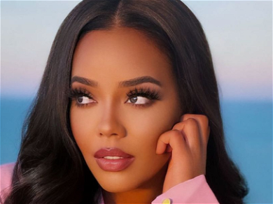 Angela Simmons Busts Out Of Pretty Pink Blazer For 'Slow Jams' Snaps