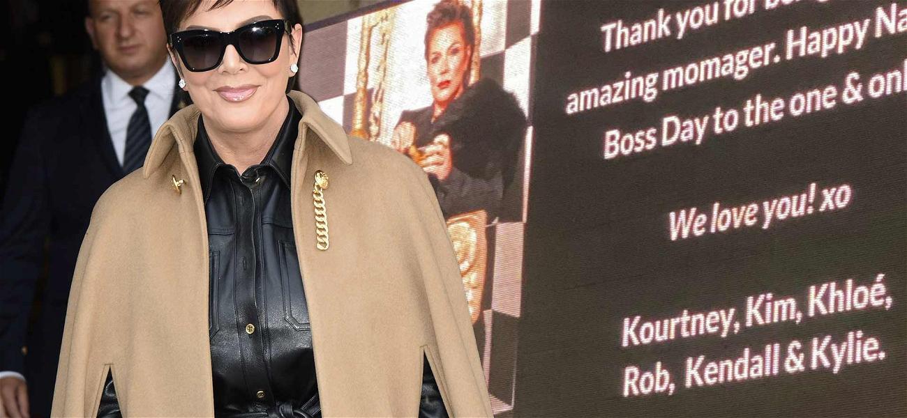 Kris Jenner's Kids Light Up Times Square For Momager On National Boss Day!