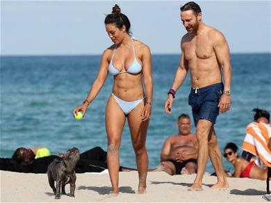 David Guetta Girlfriend Jessica Ledon in Miami
