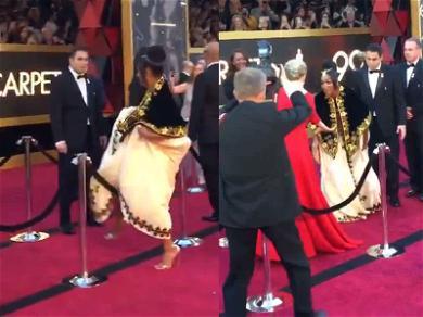 Tiffany Haddish Vaults Over Velvet Rope to Meet Meryl Streep