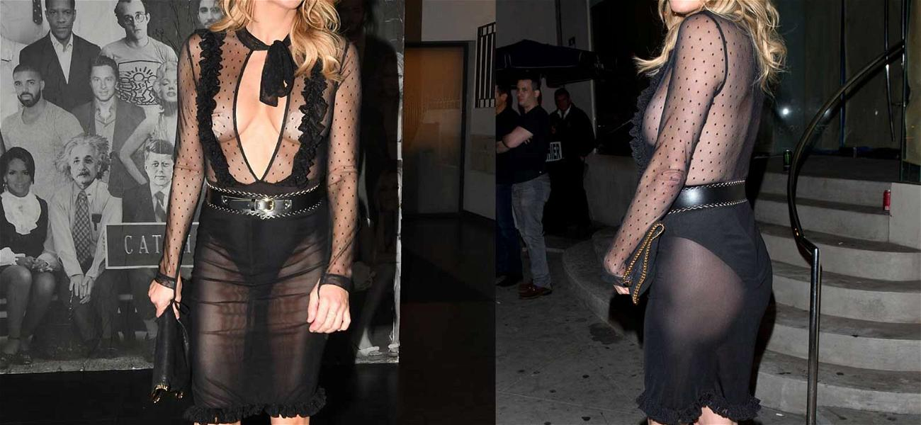 Brandi Glanville Has Gotta Be Freezing in That Outfit