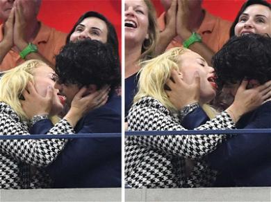 Joe Jonas, Sophie Turner U.S. Open Make Out Session is Waaay Over the Line
